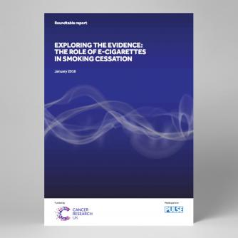 Cover image of roundtable report on e-cigarette role in smoking cessation